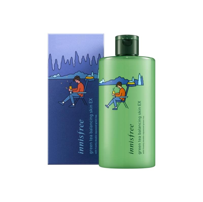 innisfree 2018年環保手帕限定版-綠茶水平衡調理液(露營家)400ml,NT860