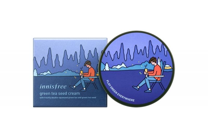 innisfree 2018年環保手帕限定版-綠茶籽保濕霜(露營家)100ml,NT 1,190