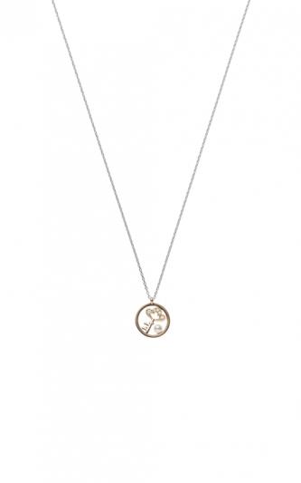 MIKIMOTO Lucky Motif Collection-Key日本Akoya珍珠18K粉紅金墜鍊 建議售價:NT$46,000