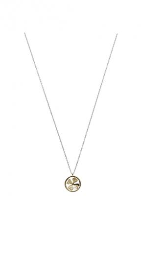 MIKIMOTO Lucky Motif Collection-Fortune Leaves日本Akoya珍珠18K黃金墜鍊 建議售價:NT$44,000