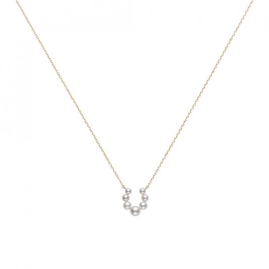 MIKIMOTO 日本Akoya珍珠馬蹄鐵造型墜鍊(搭配18K黃金鍊) 建議售價:NT$29,000