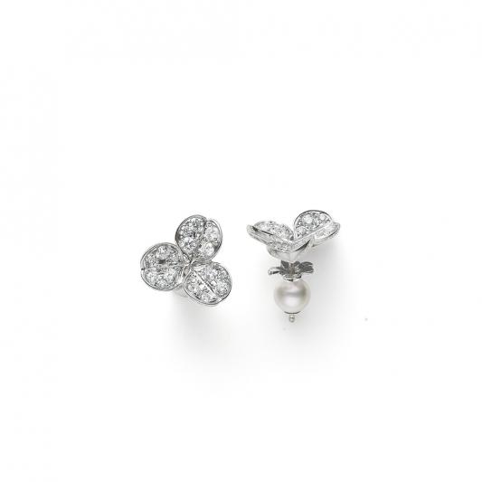 MIKIMOTO Fortune Leaves Collection日本Akoya珍珠鑽石耳環 建議售價:NT$122,000