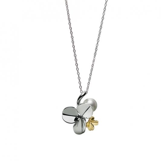 MIKIMOTO Fortune Leaves Collection 日本Akoya珍珠銀製墜鍊 建議售價:NT$17,000