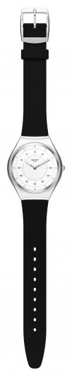 Swatch SKIN Irony 超薄金屬錶_極簡黑SKINNOIRIRON,NT4,750。