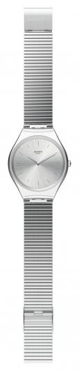 Swatch SKIN Irony 超薄金屬錶_極光銀SKINPOLE,NT5,200。
