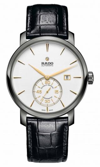Rado DiaMaster 鑽霸系列小秒針自動機械天文台腕錶_型號R14053016_建議售價NTD84,500