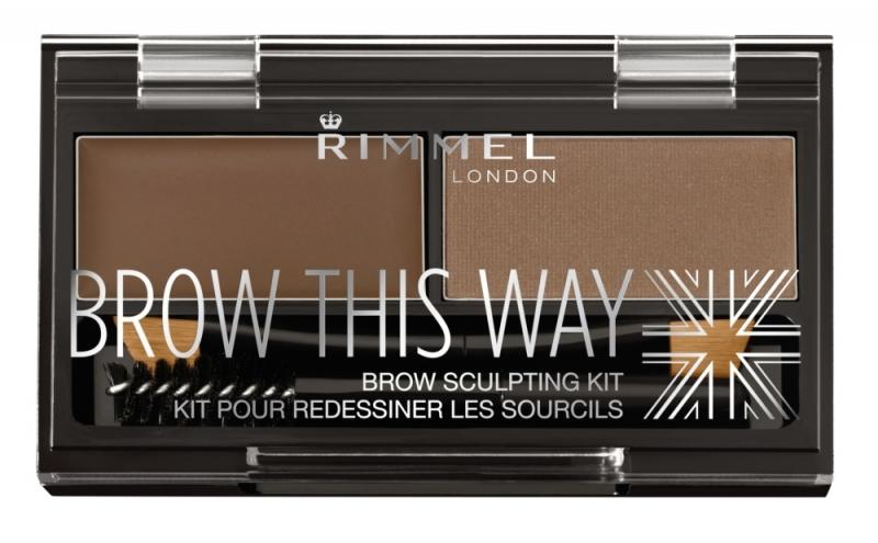 RIMMEL倫敦芮魅就是有型立體眉彩盤(#002淺棕)1.1g+1.3g,NT290。