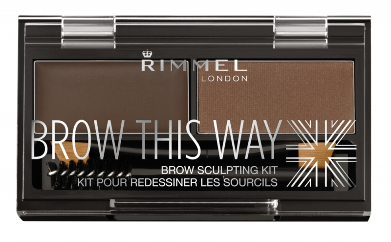 RIMMEL倫敦芮魅就是有型立體眉彩盤(#003咖啡棕)1.1g+1.3g,NT290。