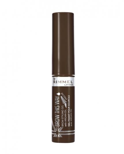 RIMMEL倫敦芮魅就是有型持久染眉膏(#002 Medium Brown焦糖棕)5ml,NT240。