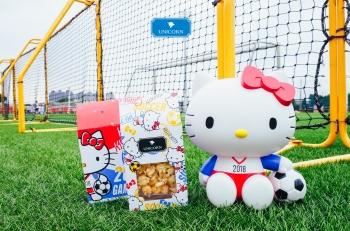 Hello Kitty瘋世足瘋世足,Unicorn邀請妳一起來可愛踢爆米花