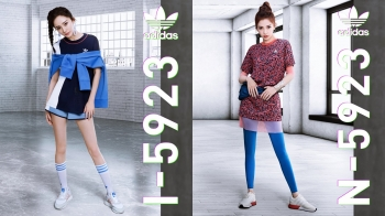 超美玫瑰粉讓人少女心噴發!楊冪、潮模Adrianne Ho 帥氣詮釋 adidas Originals全新復古休閒鞋