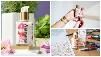 瓶身彩繪著柔和花卉與蝴蝶~38年經典Sisley全能乳液首度聯手藝術家推出限量包裝