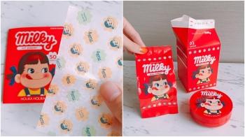 吸油面紙根本就是小時候的糖果包裝紙!Holika Holika找來不二家推出牛奶妹氣墊粉餅、唇膏、眼影、腮紅…聯名系列