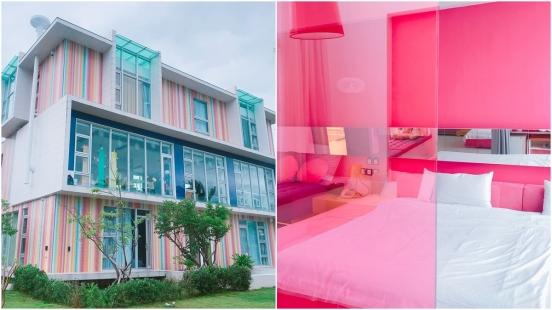一片片馬賽克磁磚打造出彩虹牆面!宜蘭羅東民宿「調色盤」每個房間都有專屬色調,還有人為了老闆的手藝慕名而來