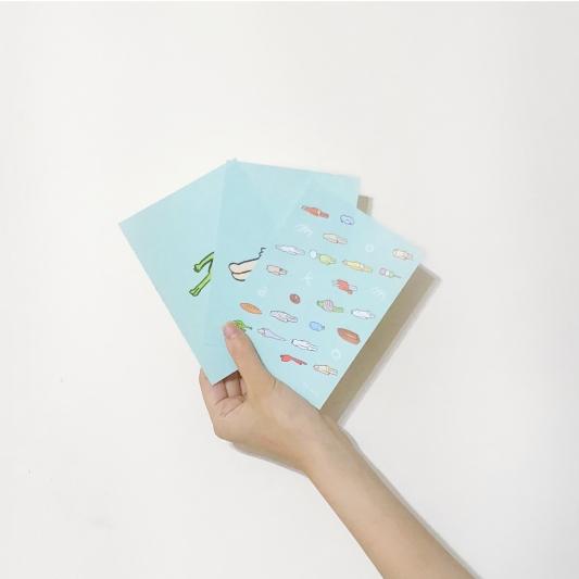 誠品生活松菸店|「be Lazy 生活懶哲學」特展∣6.13-7.23|明信片,推薦價100元。