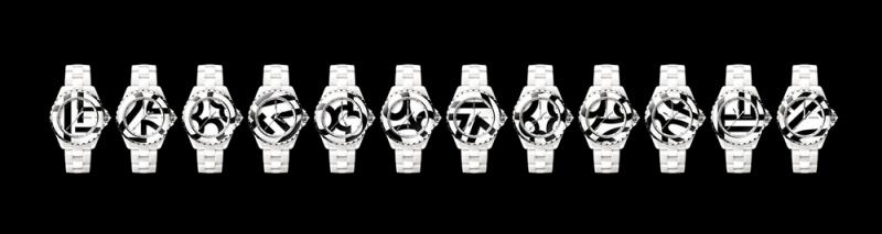 J12 Untitled腕錶(每款僅限量一支,售出即不再製,可成套收藏也可單獨購買) 一套12款獨一無二之作品。 白色高科技精密陶瓷及18K白金。18K白金指針。 以18K白金飾邊白色與黑色高科技精密陶瓷馬賽克錶盤。 白色高科技精密陶瓷錶帶,18K白金三層折疊式錶扣。 18K 白金非旋入式錶冠,鑲嵌一顆圓形切割鑽石。 18K白金錶背,鑲嵌一顆明亮式切割紅寶石。 自動上鍊機械機芯。動力儲存:42小時。 防水深度:50米。 功能:時、分、秒顯示。 尺寸:38毫米 價格店洽
