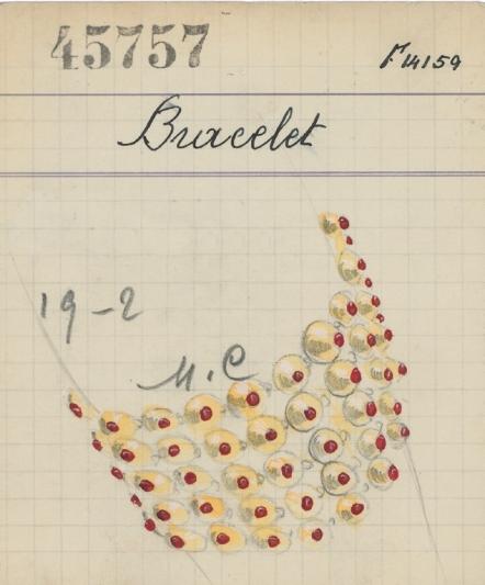 Bells手鐲產品卡(1936年)