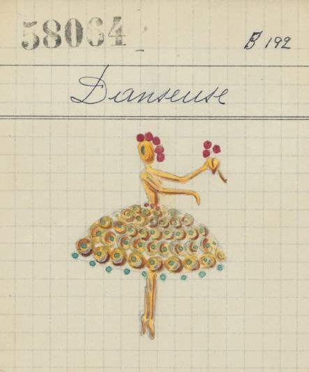 Dancer胸針產品卡(1947年)