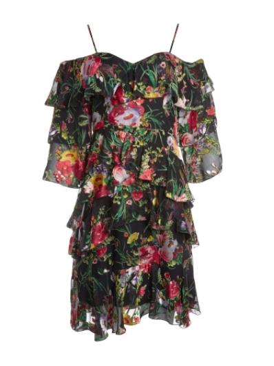 雪紡層次洋裝,Alice & Olivia,NT21,500。