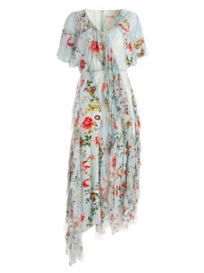蕾絲拼接雪紡洋裝,Alice & Olivia,NT34,900。