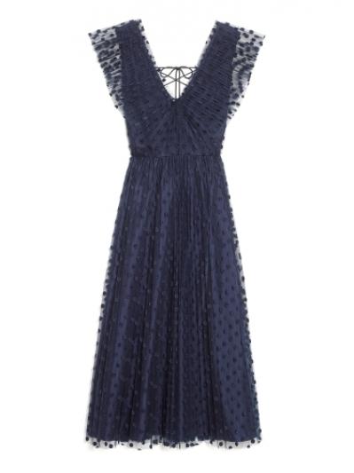圓點刺繡紗質洋裝,Kate Spade。