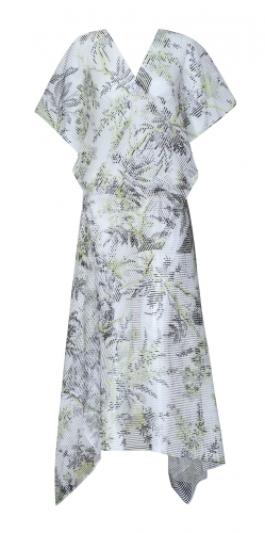 交錯式歐根紗洋裝,Diane von Furstenberg。