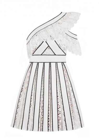 單肩蕾絲設計短洋裝,Self-Portrait by MINOSHIN,NT16,600。