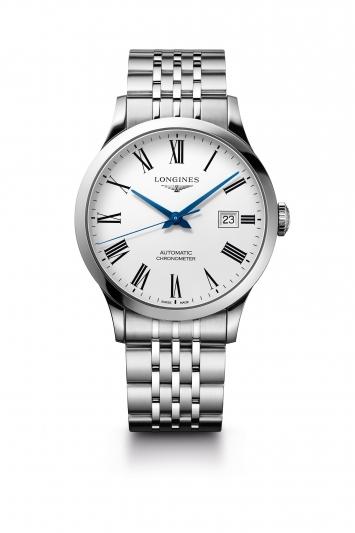 Longines 浪琴表Record系列不銹鋼鍊帶男士腕錶 (L2.821.4.11.6),建議售價 NT$68,800