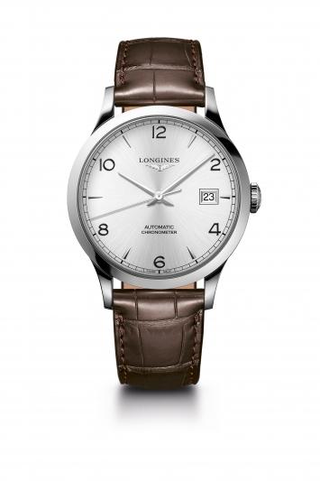 Longines 浪琴表Record系列棕色鱷魚皮錶帶男士腕錶 (L2.821.4.76.2),建議售價 NT$68,800