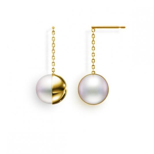 M/G TASAKI ARLEQUIN 南洋珍珠黃K金耳環,18K黃金、南洋珍珠,NT259,000。