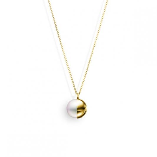 M/G TASAKI ARLEQUIN 南洋珍珠黃K金項鍊,18K黃金、南洋珍珠,NT168,000。