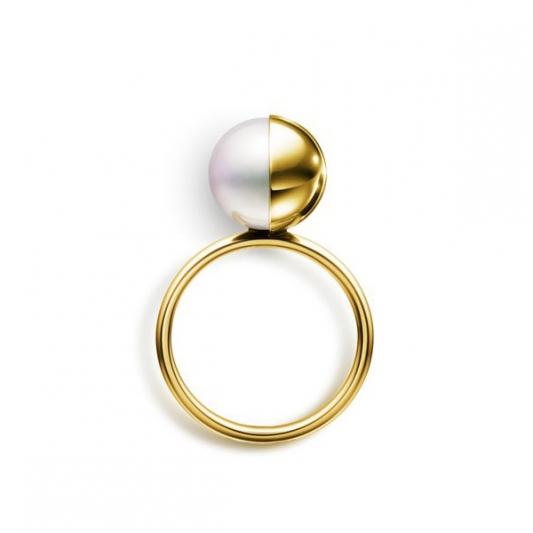 M/G TASAKI ARLEQUIN 南洋珍珠黃K金戒指,18K黃金、南洋珍珠,NT170,000。