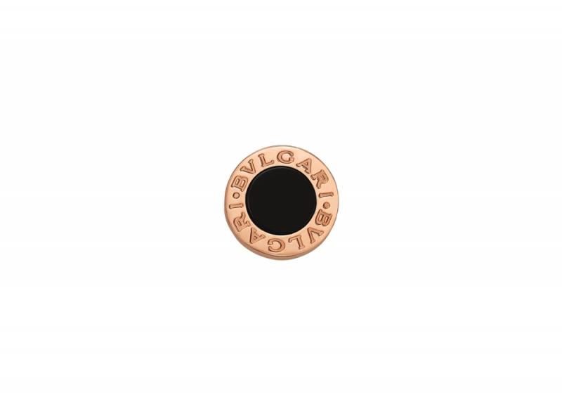 BVLGARI BVLGARI MAKE YOUR PAIR系列黑縞瑪瑙玫瑰金耳環_參考價格約 TWD 23,700元