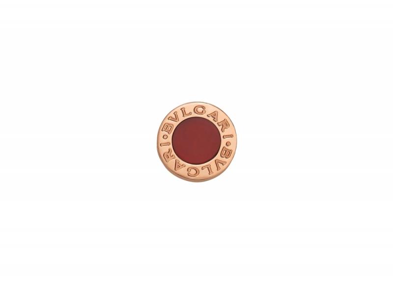 BVLGARI BVLGARI MAKE YOUR PAIR系列紅玉隨玫瑰金耳環_參考價格約 TWD 25,000元