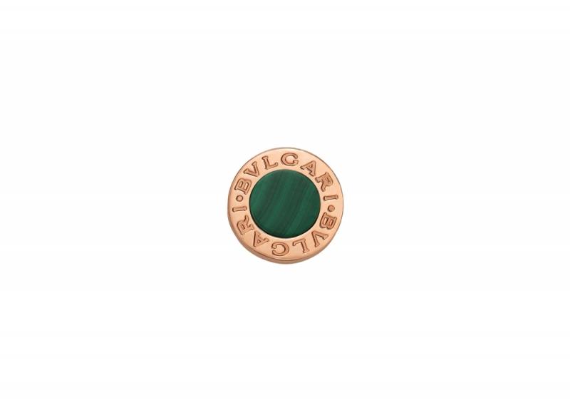 BVLGARI BVLGARI MAKE YOUR PAIR系列孔雀石玫瑰金耳環_參考價格約 TWD 25,600元
