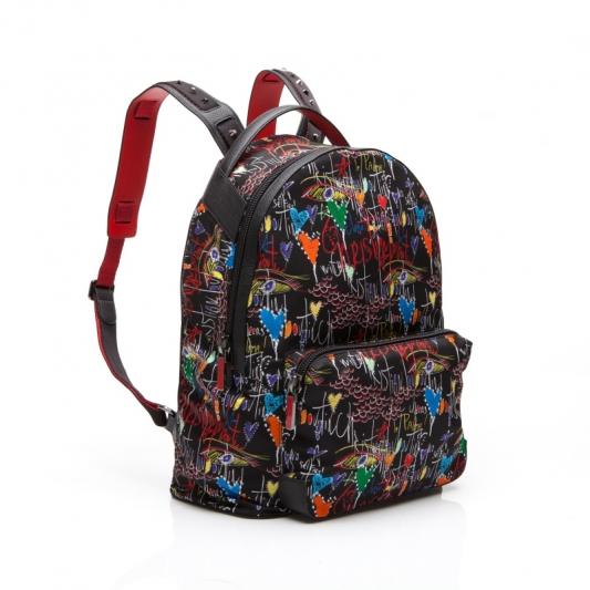 塗鴉造型尼龍後背包,Christian Louboutin。