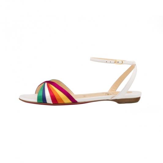 七彩明劈涼鞋,Christian Louboutin。