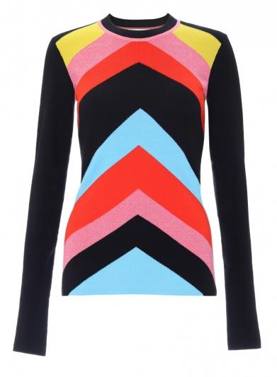 多彩針織衫,Diane Von Furstenberg。