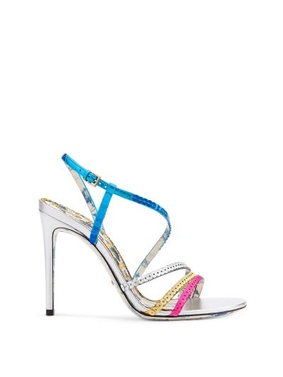 亮片刺繡涼鞋高跟,Gucci。
