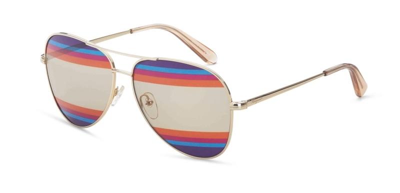 彩虹鏡面太陽眼鏡,Salvatore Ferragamo。