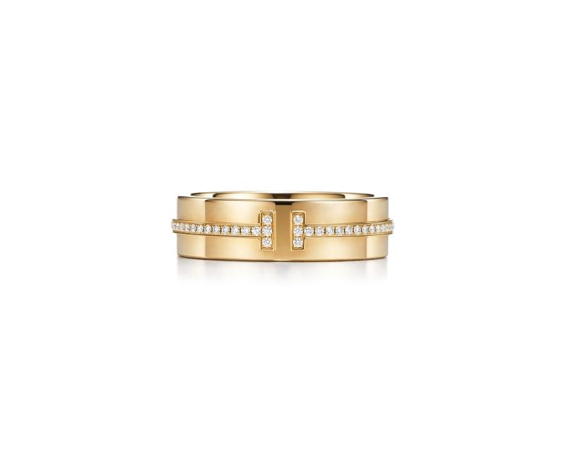 Tiffany T Two 18K金鑲鑽戒指NT$107,000