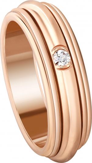 Possession系列指環 18K玫瑰金 鑲嵌1顆美鑽(重約0.04克拉) G34P6A00 台幣參考價格84,000元起