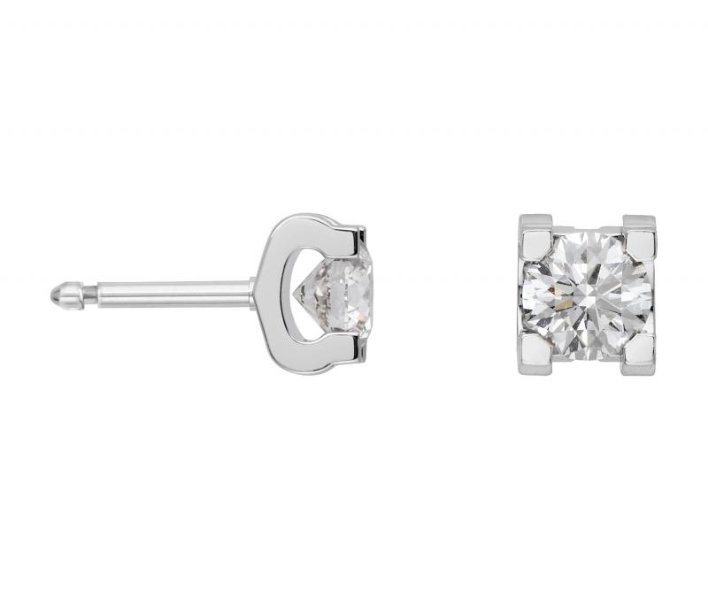 卡地亞C de Cartier 系列單鑽耳環