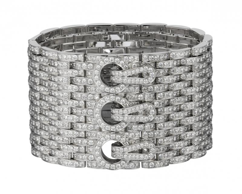 卡地亞Agrafe系列鑽石手環