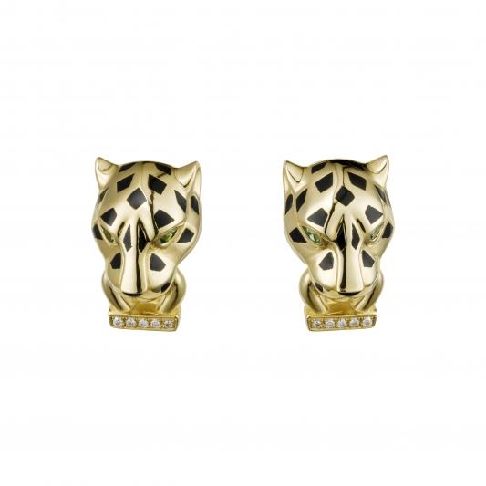 卡地亞美洲豹系列豹頭耳環