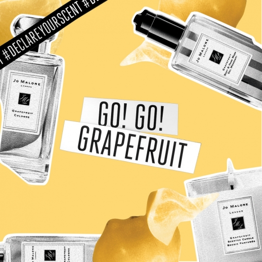 Jo Malone London DECLARE YOUR SCENT 香氛宣言「活力黃-葡萄柚」形象圖