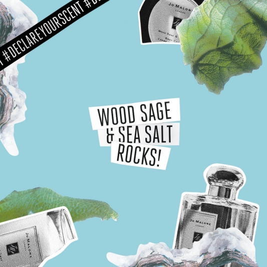 Jo Malone London DECLARE YOUR SCENT 香氛宣言「奔放藍-鼠尾草與海鹽」形象圖