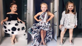 女孩的媽媽實在太有才!!超會擺pose的超可愛土耳其女孩,重新詮釋各種好萊塢女星穿搭!