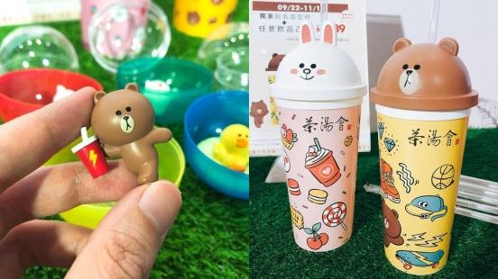 還有什麼理由不喝!茶湯會攜手Line Friends聯名合作推出熊大兔兔造型杯、護照,超萌扭蛋公仔10月登場