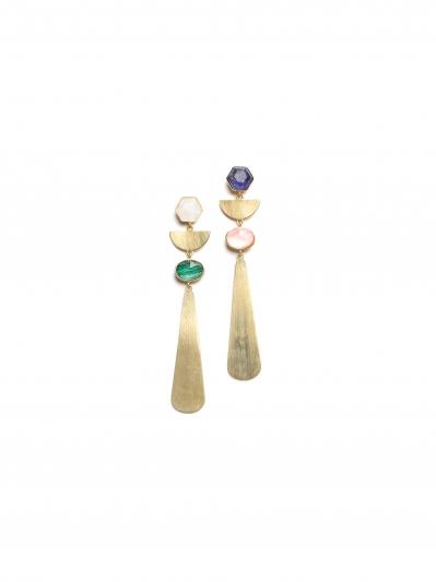 7.幾何黃銅耳環,Kate Spade,價格電洽。